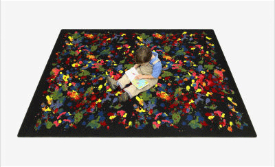 Kid Essentials Splatter Paint Kids Rug 2